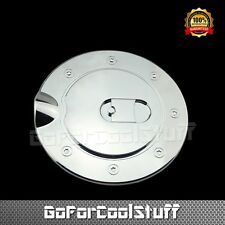 AutoModZone Chrome ABS Fuel Tank Gas Door Cap Cover for 09-14 Ford F-150