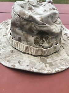 Details about Military Issue USMC Marine MARPAT Desert Camo Boonie Field  Hat Small W Name