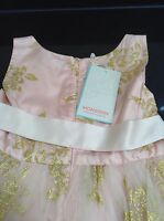 Monsoon 'portia' Pink Occasion Dress. Age 5. Brand With Tag.