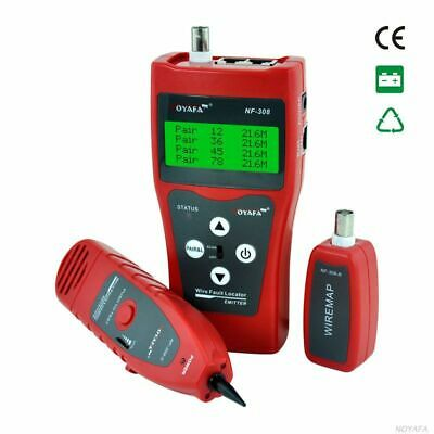 Network monitoring cable tester NF-308 Wire Fault Locator LAN Network Coacial