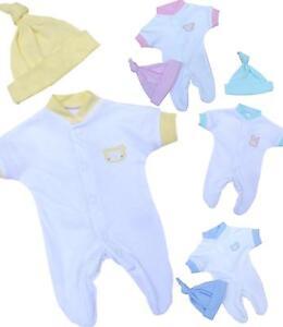 c9dda04a3 BabyPrem Premature Baby Sleepsuit   Hat Set Preemie Outfits Clothes ...