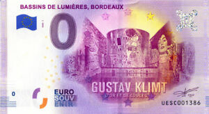33-BORDEAUX-Bassins-de-Lumieres-Klimt-2020-Billet-Euro-Souvenir