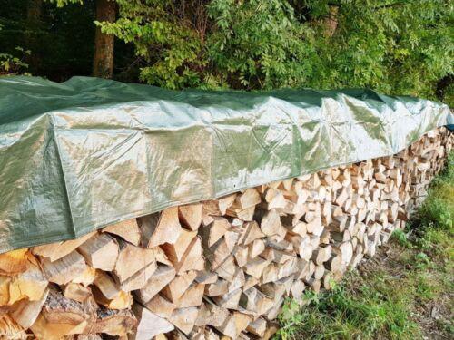 Holzabdeckplane uv-beständig Schutzplane Ösen Holzplane Bootsplane Gewebeplane