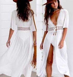 Womens-Beach-Bikini-Cover-up-Long-Kaftan-dress-Summer-Boho-Maxi-Dress-Swimsuit