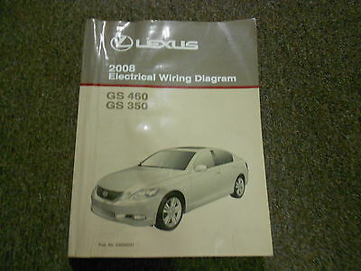 2008 Lexus GS460    GS       350    460 Electrical    Wiring       Diagram    Shop Manual EWD NEW   eBay