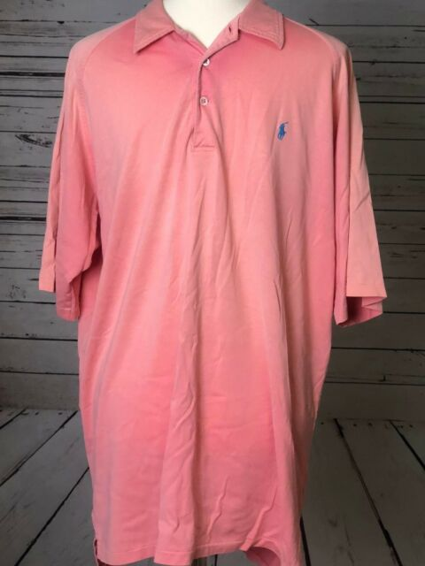 Ralph Lauren Polo Mens Ombre Pink short sleeve Shirt LARGE L Tye Dye