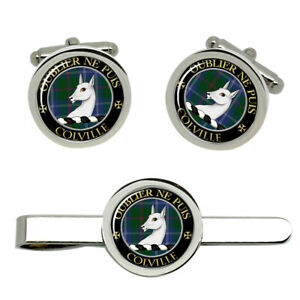 Colville-Scottish-Clan-Cufflinks-and-Tie-Clip-Set