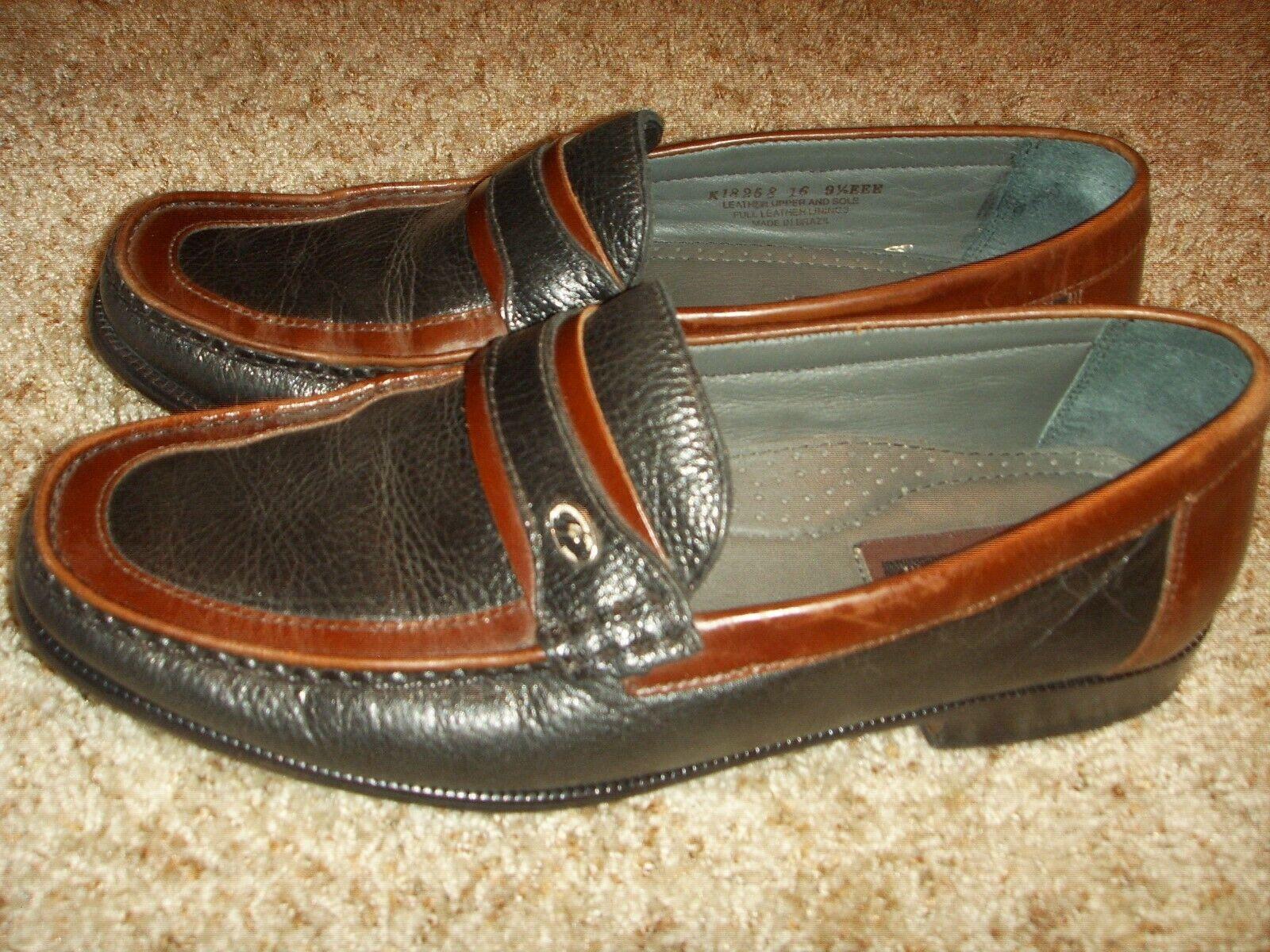 FLORSHEIM fk18258 2 tone brown black Loafer Mens Size 9.5(3E)