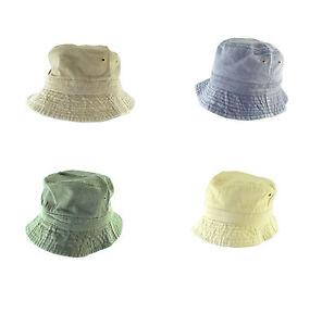 Mens-Ladies-Bush-Sun-Hat-Pre-Washed-Green-Navy-Olive-Cream-Bucket-Hat