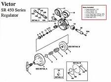 Victor Sr450d Oxygen Regulator Rebuildrepair Parts Kit With Diaphragm