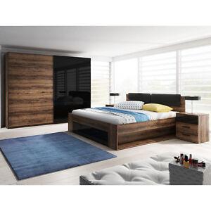 Schlafzimmer-Set Galaxy! Kleiderschrank, Bett, Schlafmöbel Komplett ...