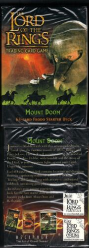 LOTR TCG Frodo Starter Deck Box Mount Doom 63 cards Lord of the Rings SEALED