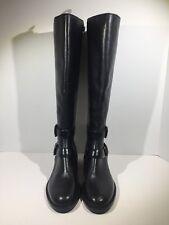 Via Spiga Bernadette Women's Size 7 Black Leather Mid Calf Zipper Boots Z7-366