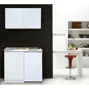 Miniküche Küche Küchenzeile Küchenblock Single Pantryküche 100 cm weiß respekta