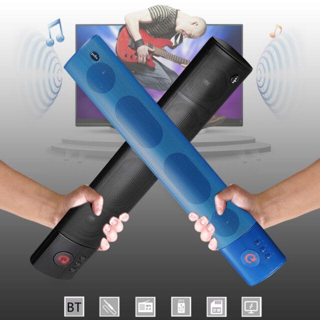 Wireless Bluetooth Mini Portable Soundbar Speaker TF USB AUX FM Radio Bar Shape