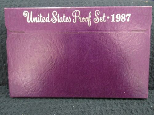 1987 United States Mint Proof Set Kennedy Half Dollar 5 Coin Set