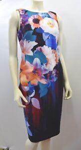 f4e62dc8c9fc Detalles de Calvin Klein Estampado de Flores Vestido Recto