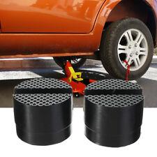 2 Pcs Car SUV Slotted Frame Rail Hydraulic Floor Jack Disk Rubber Pad Black  DIY