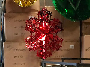 Christmas Commercial Decorations.Details About Half Price Red Snowflake Commercial Foil Christmas Decorations