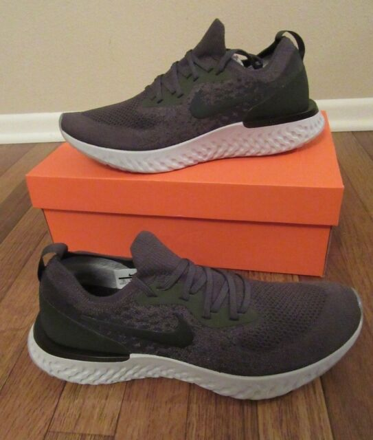 5cd1194b44a5 Nike Epic React Flyknit Size 11 Cargo Khaki Black Sequoia AQ0067 300 New NIB