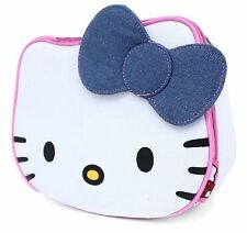 HELLO KITTY Face Design Bow School Insulated Lunch Bag by Sanrio 3+