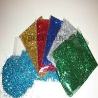 6 X 50gm ASSORTED COLOURS GLITTER dust free