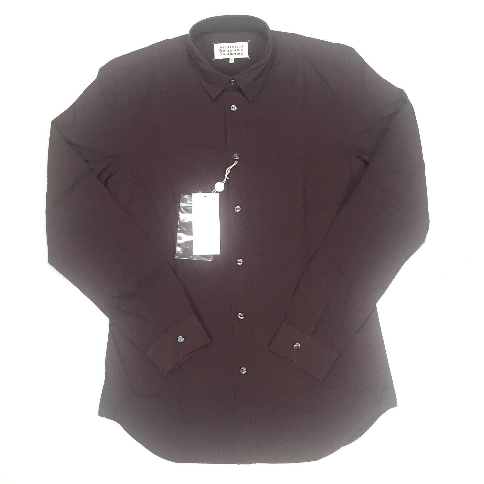NWT  Maison Martin Margiela Men's Cabernet Red Button Down Shirt AUTHENTIC