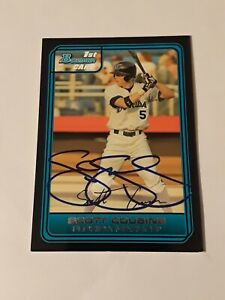 Scott cousins Auto autograph signed 2006 Bowman Prospect card Florida Marlins