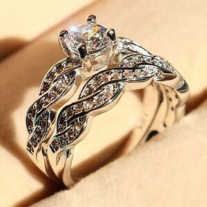 image is loading women diamonique cz white gold filled wedding ring - Diamonique Wedding Rings