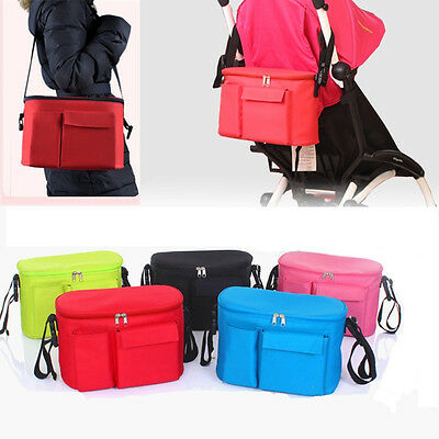 Waterproof  Baby Stroller Organizer Bag Travel Shoulder Bag Bottle Diaper Bag