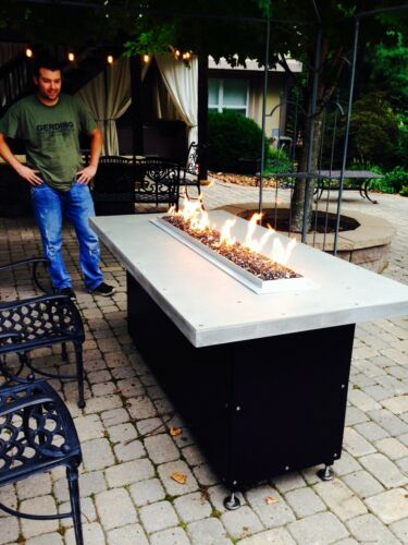 "TB50K++; DIY PRE-PLUMBED GAS FIRE PIT KIT /& 50/"" LIFETIME WARRANTED 316 BURNER"