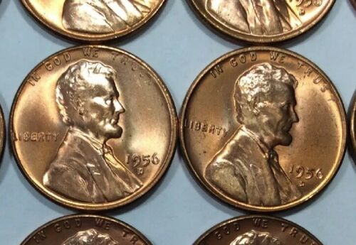Quantity Of 40 Coins Available 1956-D BU Wheat Cents 99 Cents Each