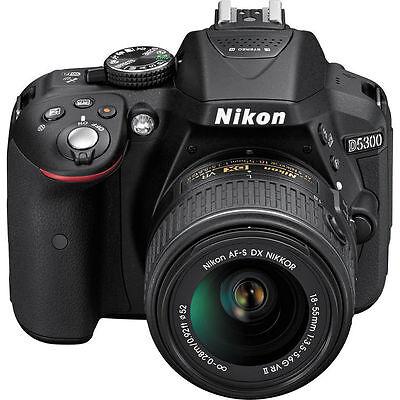 New Nikon D5300 DSLR Camera w/ New 18-55mm AF-P Stepping VR Motor Nikkor Lens