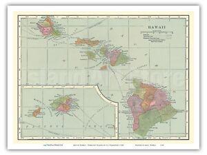 photo relating to Printable Map of Hawaii identify Facts around 1905 Classic Map of Hawaii - Hawaiian Islands - C.S. Hammond - Print