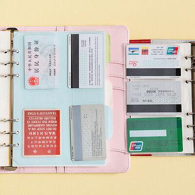 A5//A6 Transparent Zip Wock Envelope Binder Pocket Refill Organiser StationerHFUK
