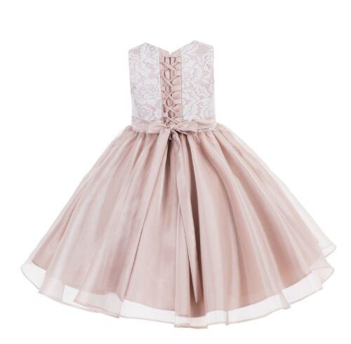 Lace Flower Girl Dress Pageant Dress Formal Toddler Dresses Graduation Dresses