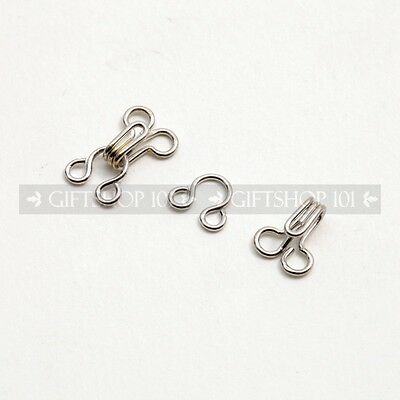 15mm Silver Metal Lock Clips Clothes Adjustment Sewing DIY Project Latch Hooks