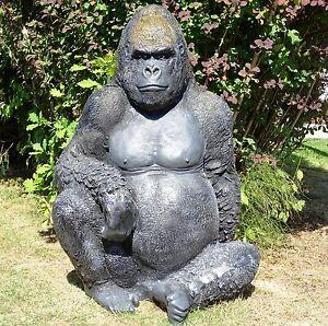 Gartendeko Figuren, xxxl sitzender gorilla lebensgross~affe deluxe gartendeko, Design ideen