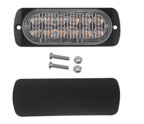 Barra de luces LED Estroboscópico 4 piezas peligro de camión Ámbar Faro Flash advertir Lámpara De Emergencia