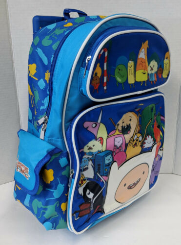 """BLUE GROUP ROLLER LARGE SCHOOL BAG 16/"""" NWT ADVENTURE TIME ROLLING BACKPACK"""