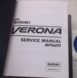 2006 suzuki verona service shop repair manual rp625 99500s86z20 33e rh ebay com 2004 suzuki verona owners manual pdf 2004 suzuki verona repair manual