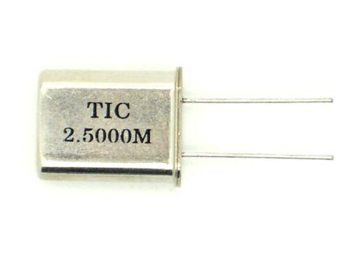q27 1 x tic quartz oscillateur 2.5000m MHz, quartz, schwingquarz, bouge, oscillateur