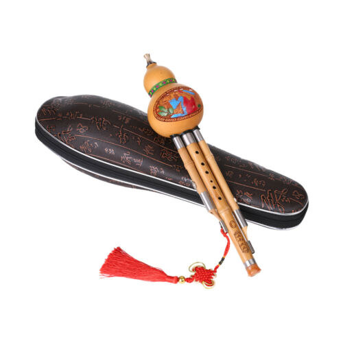 Treble C-Key Hulusi Cucurbit Flute Bottle Gourd  Bamboo Pipes Chinese T2P7
