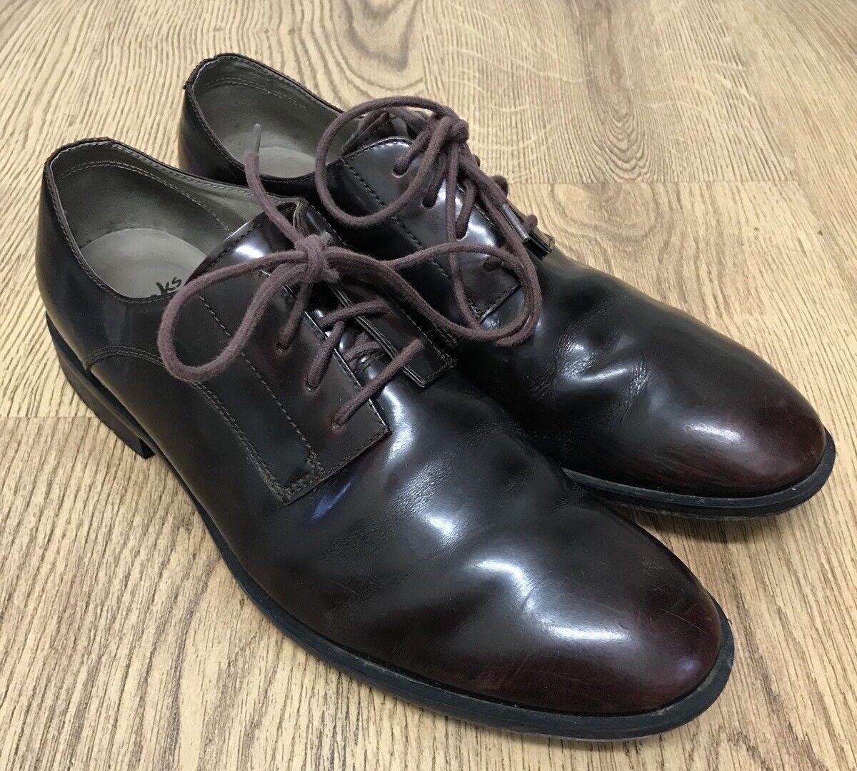 Clarks Mens TOR England Oxblood  Burgundy Smart shoes Size 8UK Lace Up