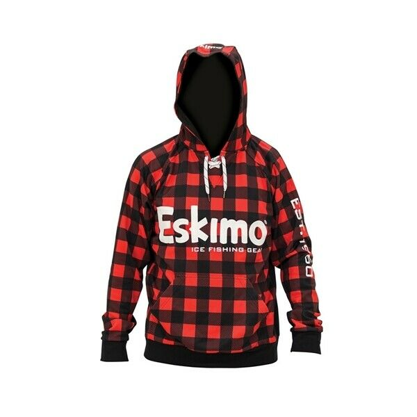 NEW Eskimo Red Hockey Hoodie M XL XXL Matches your Fish Ice House Auger NWT L