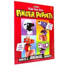 Make Your Own Animal Paper Finger Puppets Kit - Fun Craft Toys