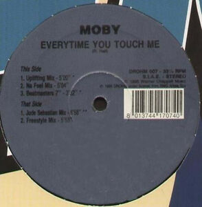 MOBY - Everytime Vyou Touch Me (Uplifting Mix) - 1995 Drohm Italy - Drohm 007