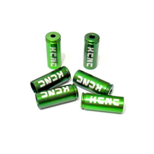 gobike88 KCNC Brake Housing Open End Caps Green 5mm N86 6 pieces