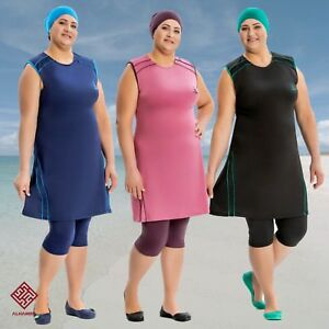 AlHamra-AL8132-Capri-Modest-Burkini-Swimwear-Swimsuit-Muslim-3-piece-UK-20-26