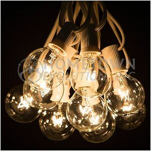 100 Foot Outdoor Globe Party String Lights - Set of 100 G40 Clear Bulbs eBay